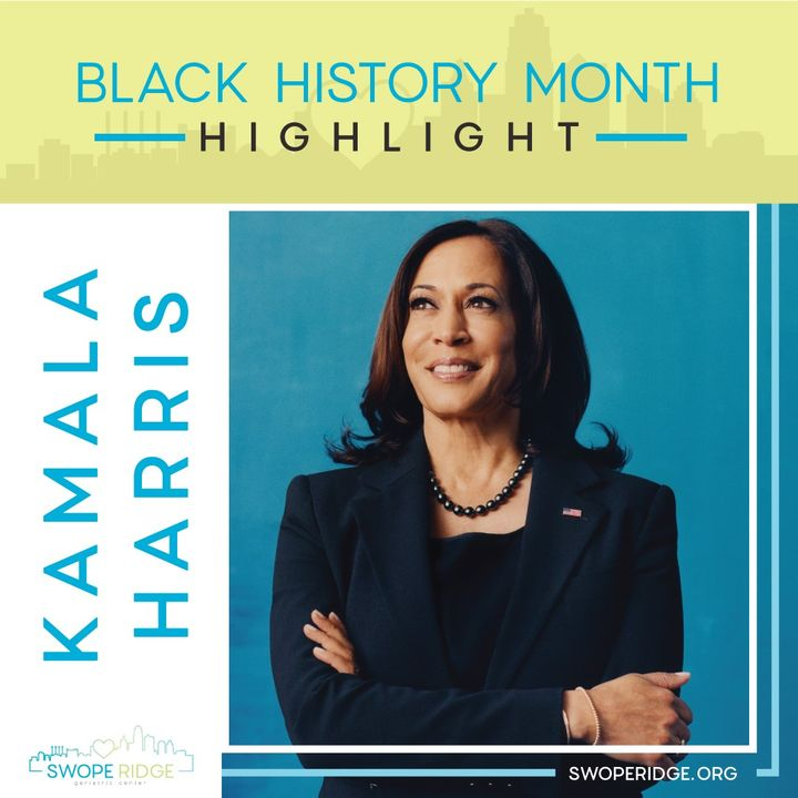 kamala harris black history month graphic