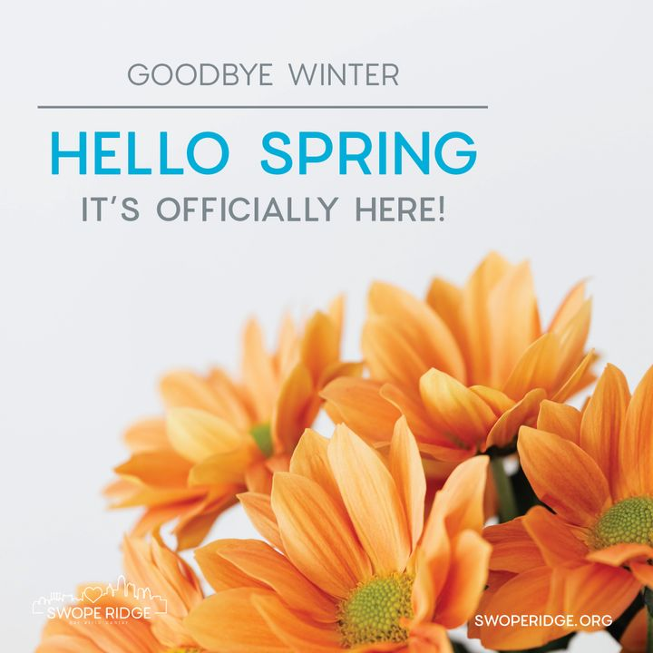 spring is here graphic